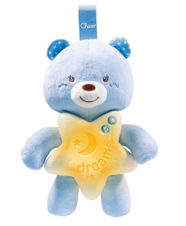 Игрушка музыкальная Chicco Goodnight Bear голубая