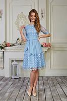 Платье нарядное, коктельное, праздничное для девушки, голубого цвета р.44,48 код 1940М