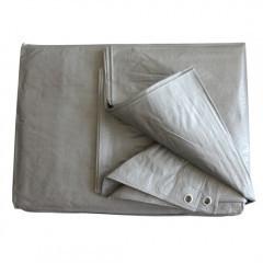 Тент 4х8 плотность 110 тарпаулин Польша Plandeka Пландека цвет серебро с люверсами мощный