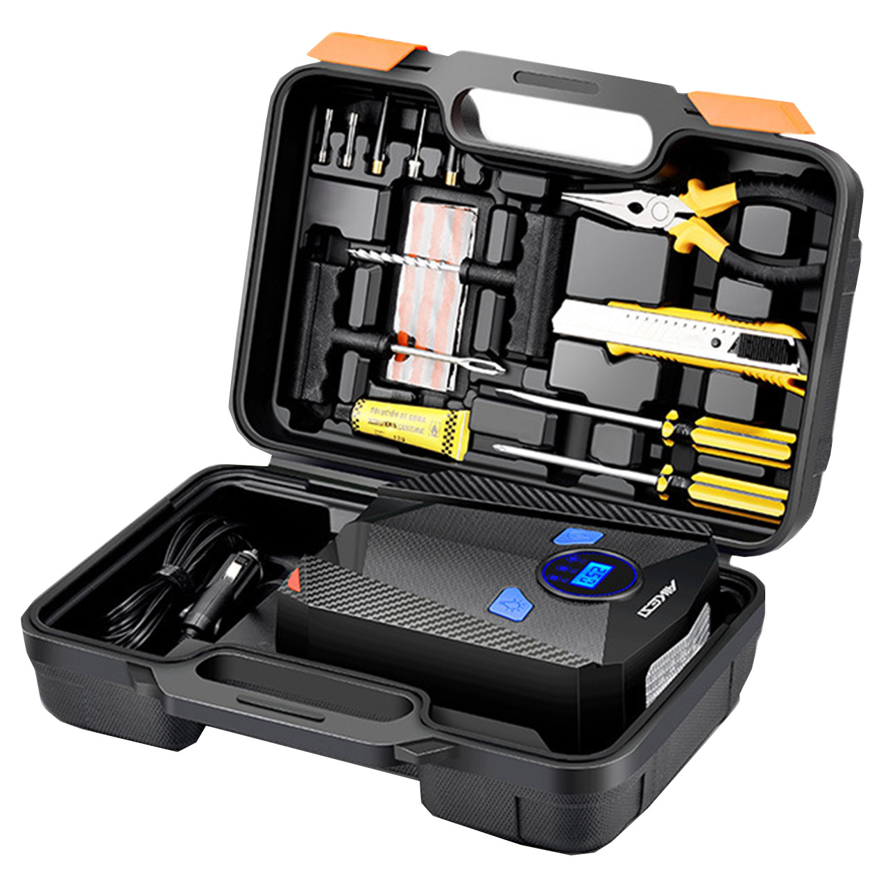Набор автокомпрессор AIKESI AKS-5501 + инструменты для ремонта обслуживания и накачивания колес машины