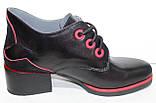 Ботинки женские демисезонные кожаные на каблуке от производителя модель РИ7-42, фото 3