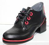 Ботинки женские демисезонные кожаные на каблуке от производителя модель РИ7-42, фото 2