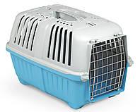 Переноска для животных 48*31.5*33 см MPS PRATIKO 1 BLUE. Дверь металлическая
