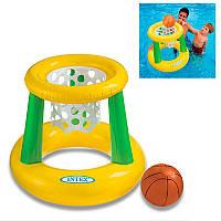 Детский надувной набор для игры в баскетбол на воде, 58504