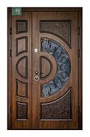 Дверь входная полуторка ковка
