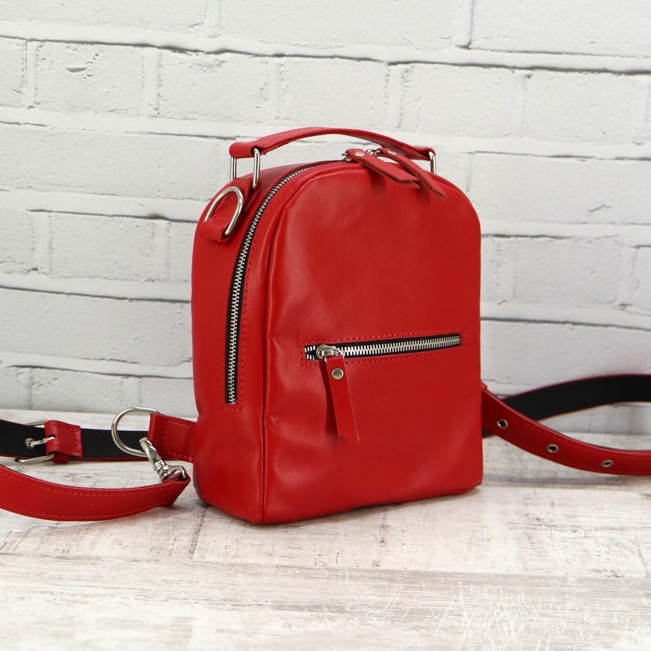 Рюкзак Mihey piton small красный из натуральной кожи kapri 1320403