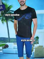 Мужские наборы для дома и сна , футболка и капри