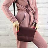 Сумка sv lady бордо из натуральной кожи kapri, фото 7