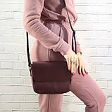 Сумка sv lady бордо из натуральной кожи kapri, фото 8