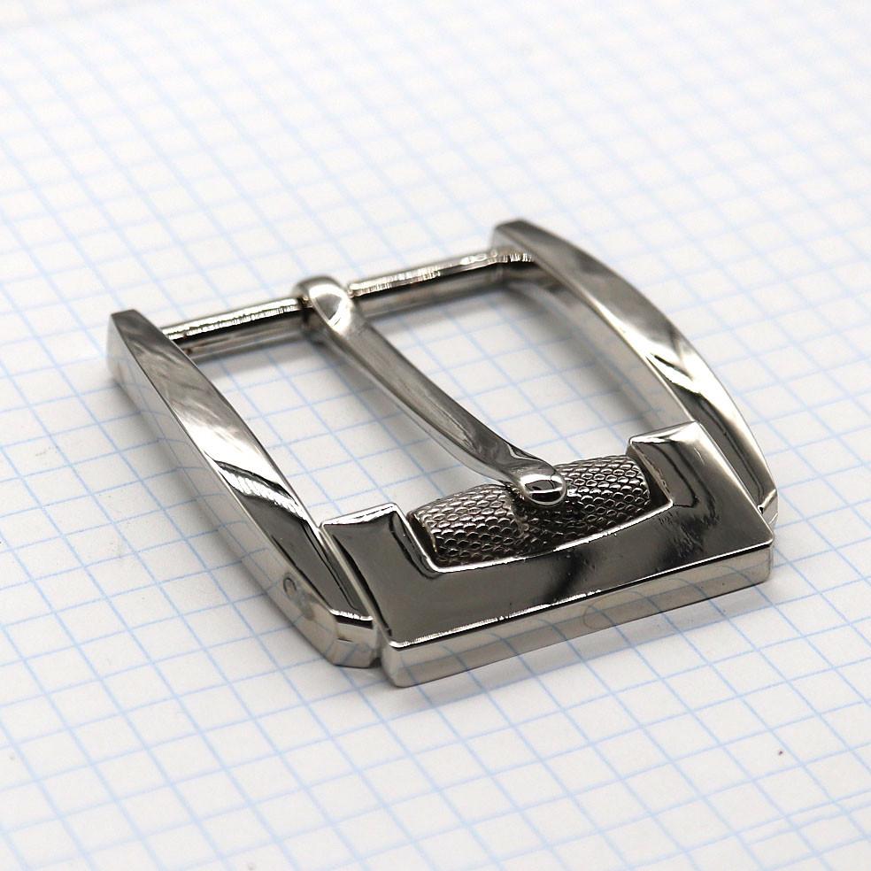Пряжка ременная 40 мм никель с барашком a3555