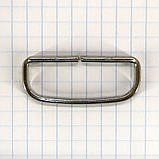 Шлевка металлическая 35 мм никель для ремней t4358 (30 шт.), фото 2