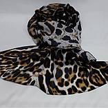 Шарф палантин женский. Леопардовый принт, фото 2