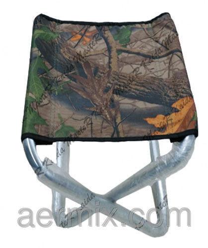 Стул без спинки алюминиевый, стул туристический без спинки, складной стул для рыбалки и отдыха,раскладной стул