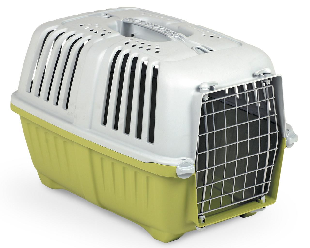 Переноска для животных 55*36*36 см MPS PRATIKO 2 Green. Дверь металлическая
