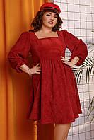 Женское вельветовое платье большого размера.Размеры:48-58.+Цвета, фото 1
