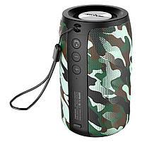 Колонка ZEALOT S32 Camouflage (Зеалот) Bass Bluetooth FM радио micro USB micro SD карта 3D 52mm speacker, фото 2