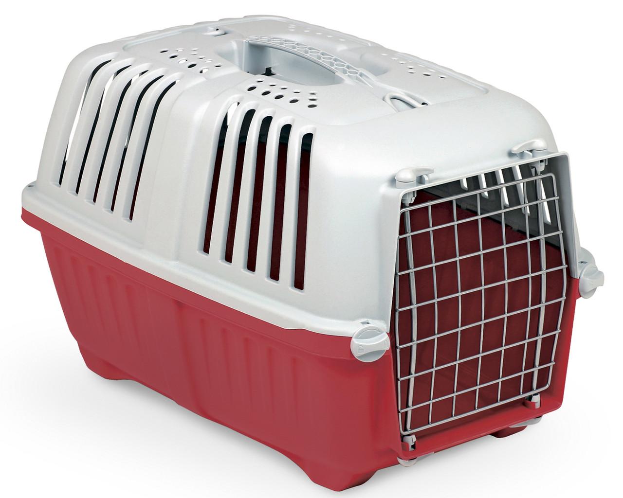 Переноска для животных 55*36*36 см MPS PRATIKO 2 RED. Дверь металлическая