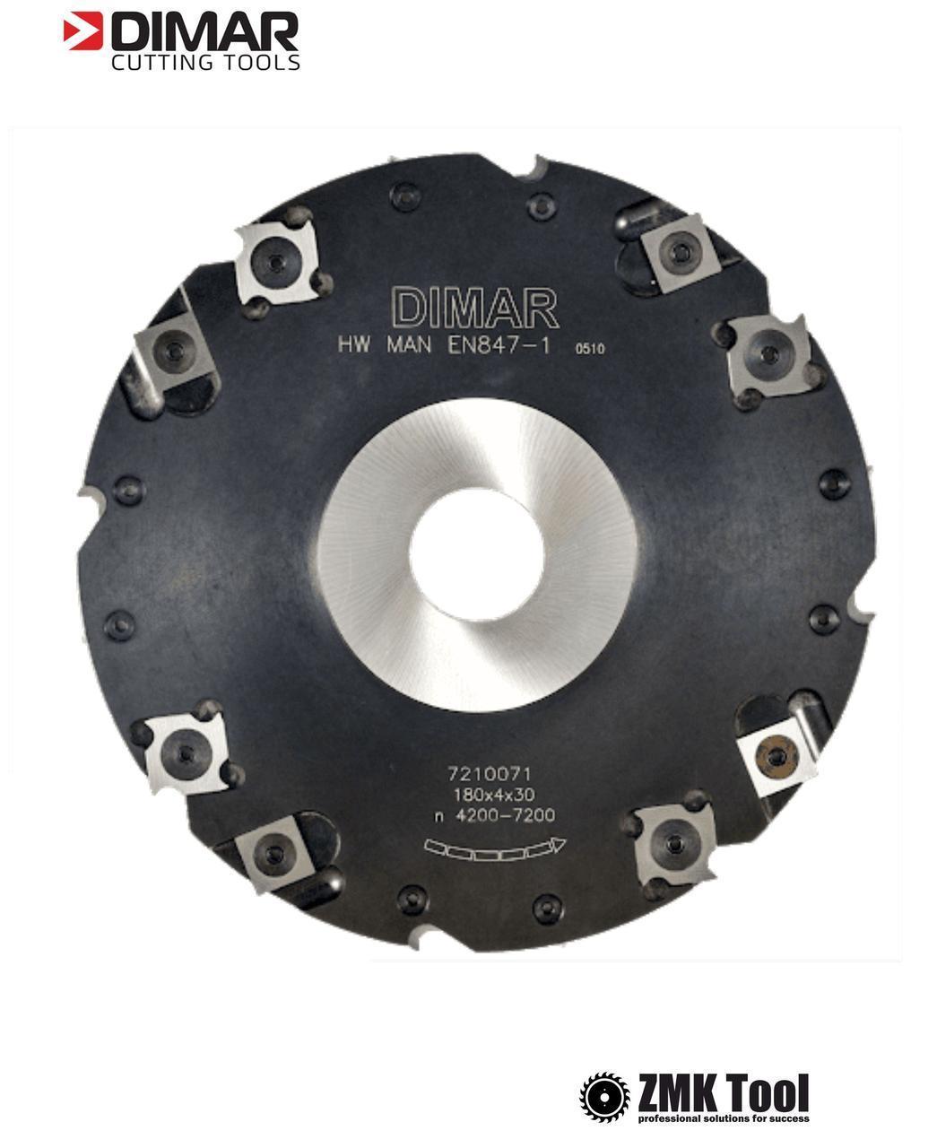 Фреза насадная DIMAR пазовая 10 мм D=180 d=30-35 B=10 Z4+8