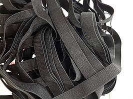 Резинка тканая мягкая 015мм цв черный (уп 25м) 2223 Укр-б