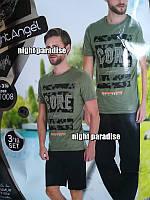 Мужской комплект для дома 3-ка футболка, шорты и штаны