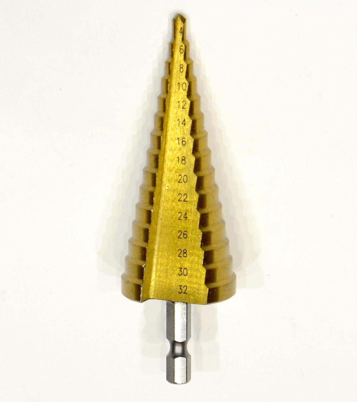 Ступенчатое сверло 4-32мм
