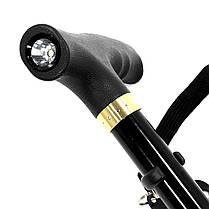 Треккинговая складная трость Lightweght 1 Legs 28579 с фонариком телескопическая для пожилых людей, фото 3