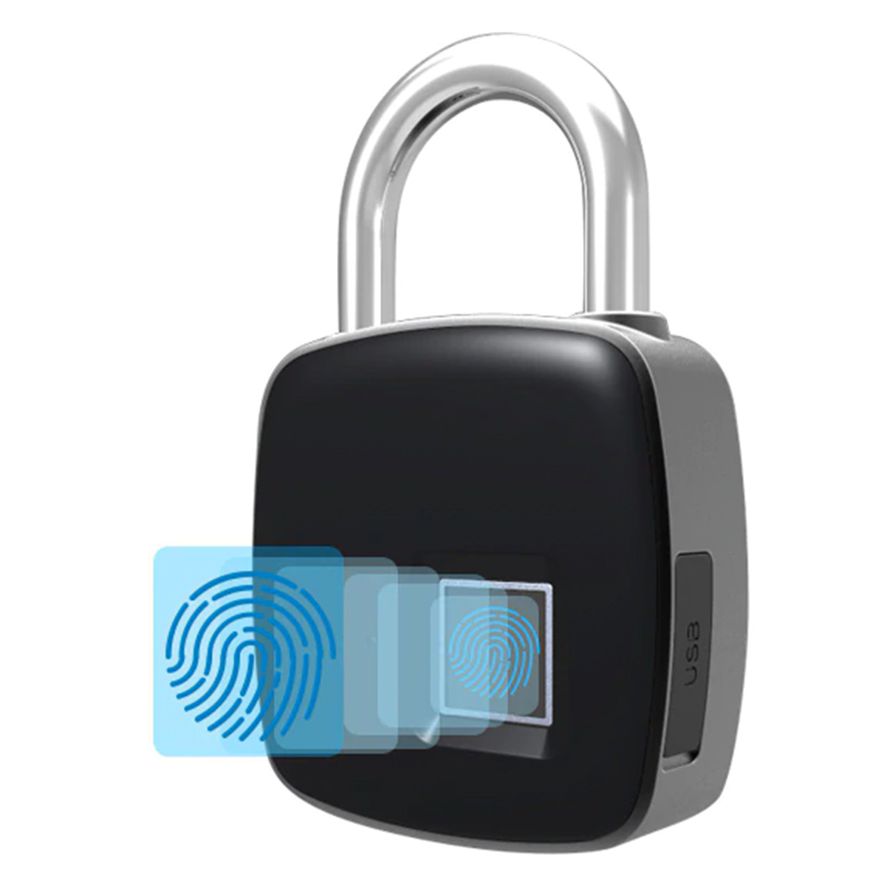 Умный замок Anytek P3+ с отпечатком пальца навесной интелектуальный Bl