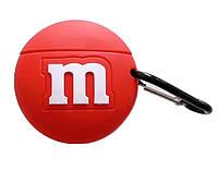 Чехол силиконовый для AirPods Pro M&M`s, Красный, фото 1