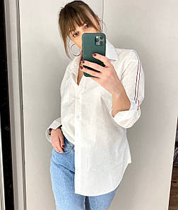 Женская свободная рубашка с лампасом