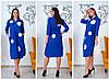 Женское платье свободного кроя с карманами и разрезами 46-48, 50-52, 54-56, 58-60, фото 4