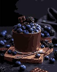 Картина по цифрам Идейка Соблазнительный десерт (KHO5574) 40 х 50 см (Без коробки)