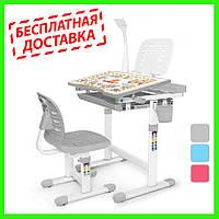 Детский комплект Парта и стул Evo-Kids Evo-10 (с лампой)