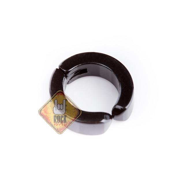 Серьга-обманка (ea-010), Размер серьги-обманки Серьга-обманка (клипса, цвет черный, без прокола, титан, ∅13