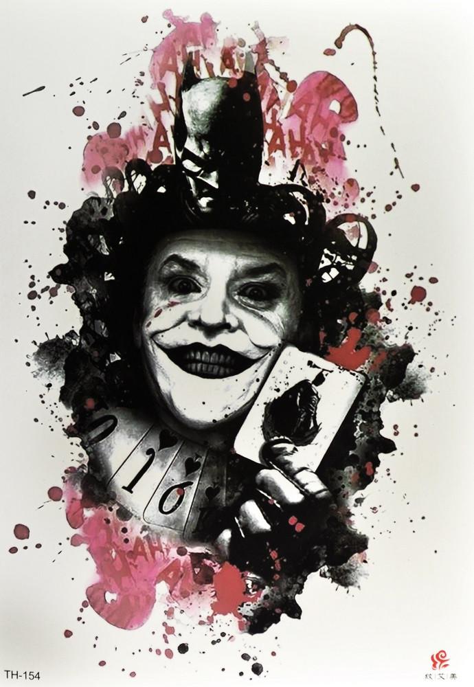 Временная тату Batman and Joker (TH-154, 21x15 см)
