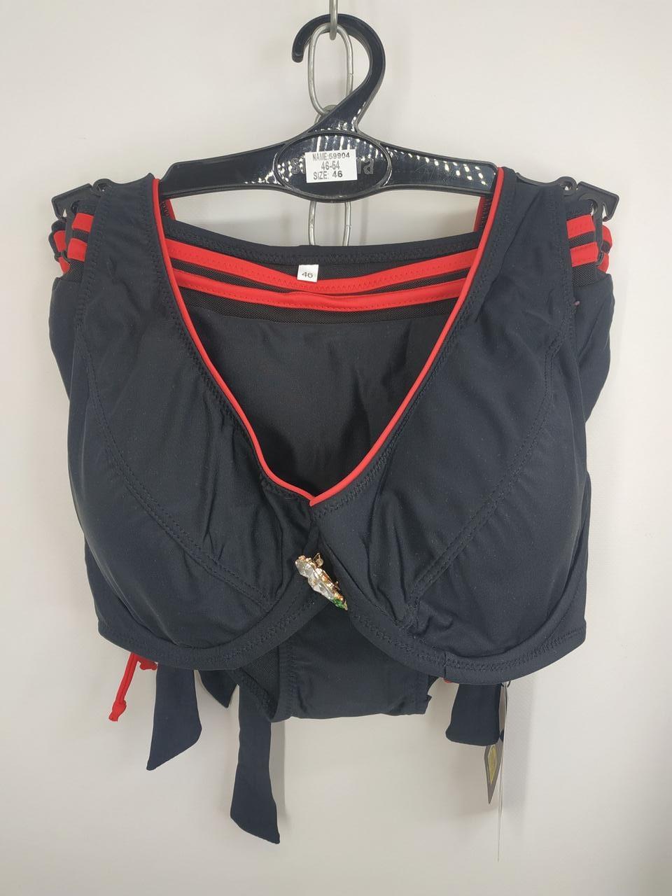 Купальник на косточках Sisisanna 59904 черный на 50 52 54 56 58 размер