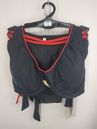Купальник на косточках Sisisanna 59904 черный на 50 52 54 56 58 размер, фото 2