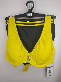 Купальник на косточках Sisisanna 59904 желтый на 50 52 54 56 58 размер