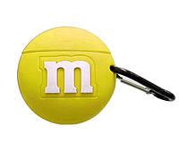Чохол силіконовий для AirPods Pro M&m's, Жовтий, фото 1