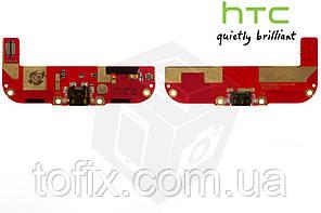 Шлейф для HTC Desire 700 Dual Sim коннектора зарядки, микрофона, с компонентами, оригинал