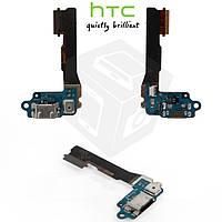 Шлейф для HTC One mini 601n, коннектора зарядки, микрофона, с компонентами, оригинал