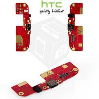 Шлейф для HTC Desire 300, Desire 500, коннектора зарядки, с компонентами, оригинал