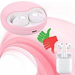 Беспроводные наушники bluetooth гарнитура Wi pods K10 наушники с микрофоном оригинал розовые, фото 7