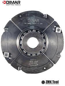 Фреза насадна DIMAR для пазування з можливістю регулювання 4.0-7.5 мм D=160 d=30 B=4.0-7.5 Z8+4