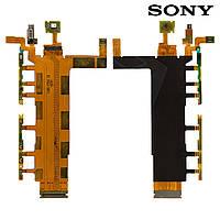Шлейф для Sony D6633 Xperia Z3 DS, кнопки включения, боковых клавиш, с компонен., с вибро, с микроф.