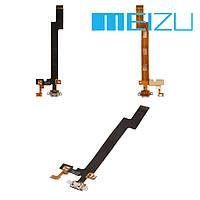 Шлейф для Meizu MX5, коннектора зарядки, с компонентами, оригинал