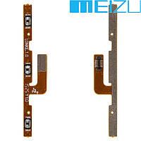 Шлейф для Meizu MX5, кнопки включения, с компонентами (оригинал)