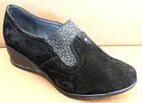 Туфли черные женские на полную ногу от производителя модель БД8Т, фото 7