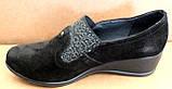 Туфли черные женские на полную ногу от производителя модель БД8Т, фото 8