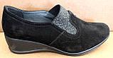 Туфли черные женские на полную ногу от производителя модель БД8Т, фото 6