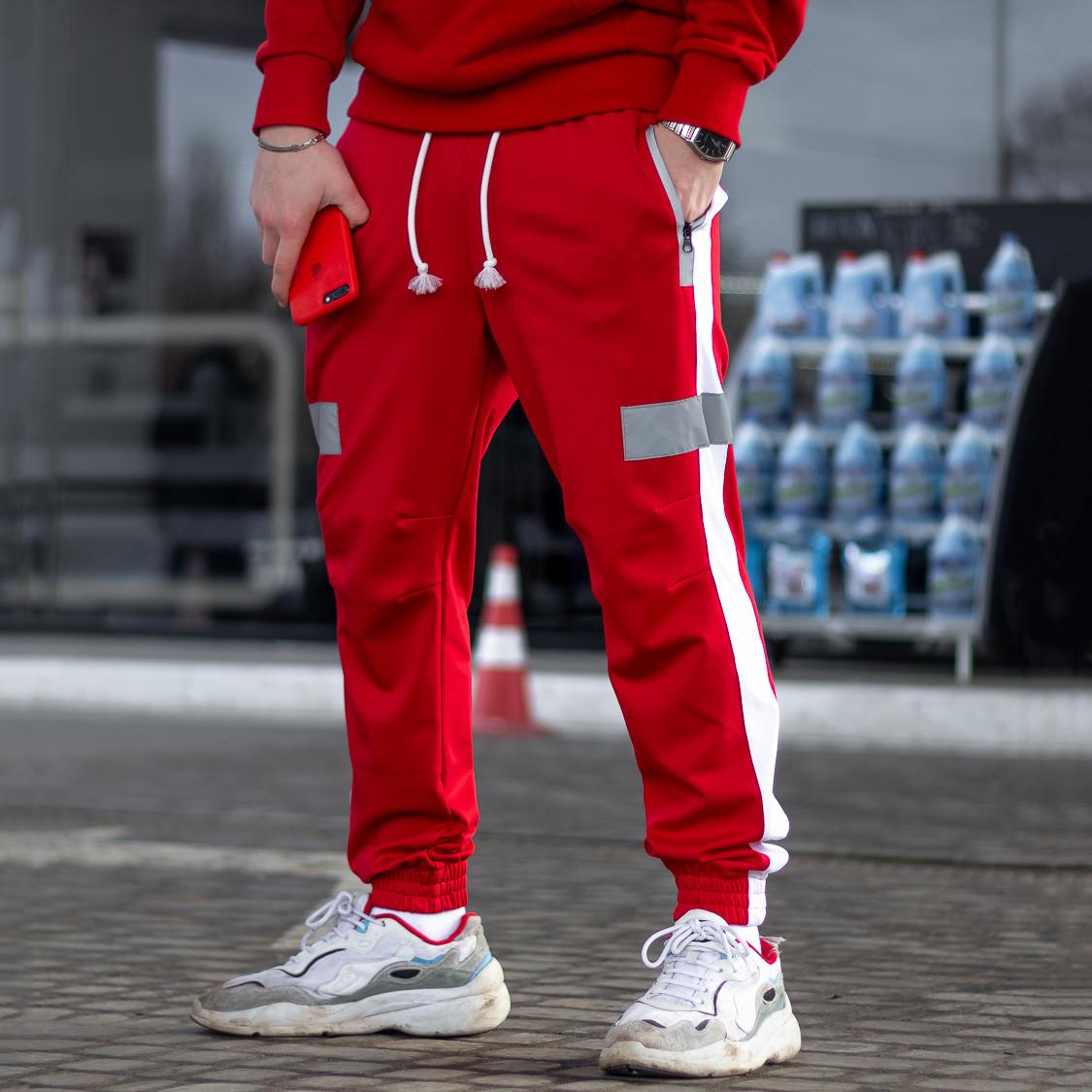 Спортивные штаны Пушка Огонь Wline красные - размер XS